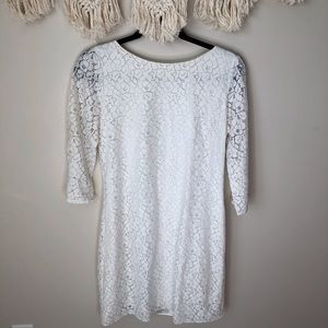 Tahari White Lace Dress size six